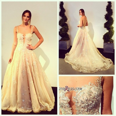 Zipper Beads Appliques Lace Tulle Sleeveless Gorgeous Wedding Dress_1