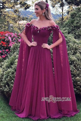 Sweetheart Formal Chiffon Prom Dress | 2020 Long Evening Gowns With Ruffles_3