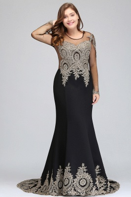 Chic Long Sleeve Evening Gowns | 2020 Mermaid Prom Dress With Lace Appliques_7