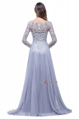 2020 Appliques Long-Sleeves Newest Beadings A-Line Prom Dress_4
