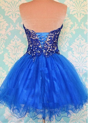 Modern Sweetheart Sleeveless Short Homecoming Dress With Appliques_2