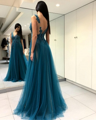 Gorgeous Scoop Long Evening Dress | 2020 Forml Dress With Slit On Sale_4
