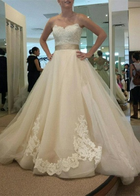 Gorgeous Sweetheart Princess 2020 Wedding Dresses Lace Appliques Tulle_1