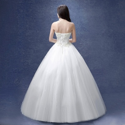 Glamorous Sweetheart Pearls Wedding Dresses 2020 Ball Gown Tulle Bridal Gown_4