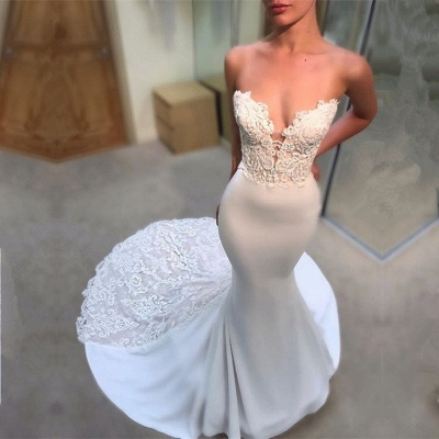 Gorgeous Sweetheart Lace Wedding Dress | 2020 Mermaid Long Bridal Gowns_2