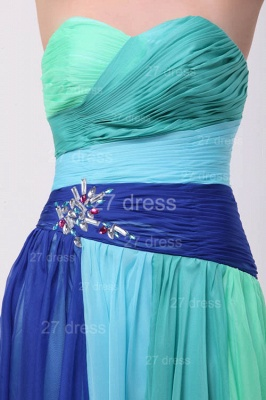 Colourful Evening Gowns Sweetheart Sleeveless A Line Sequins Crystal Floor Length Prom Gowns_5