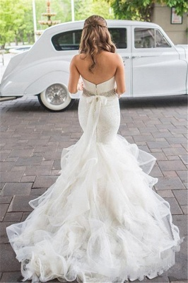 Sparkly Sweetheart Mermaid 2020 Wedding Dresses Lace Tulle Beads_3