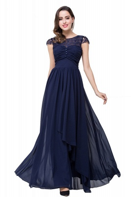 Elegant Cap Sleeve Lace Evening Dress | 2020 Long Chiffon Prom Dress_5