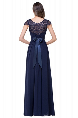 Elegant Cap Sleeve Lace Evening Dress | 2020 Long Chiffon Prom Dress_2