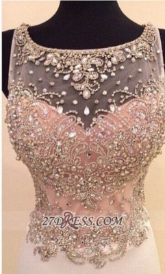 Glamorous Illusion Sleeveless Long Prom Dress With Beadings Crystals_1