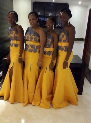 Beautiful Yellow One Shoulder Prom Dress 2020 On Sale_1