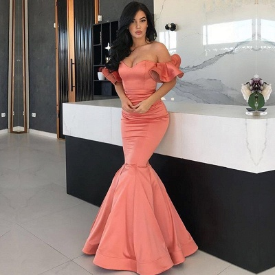 Gorgeous Off-the-Shoulder Long Prom Dress | 2020 Mermaid Evening Gowns_2