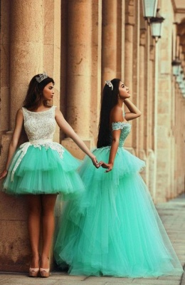 Timeless Illusion Sleeveless Tulle Homecoming Dress With Lace_3