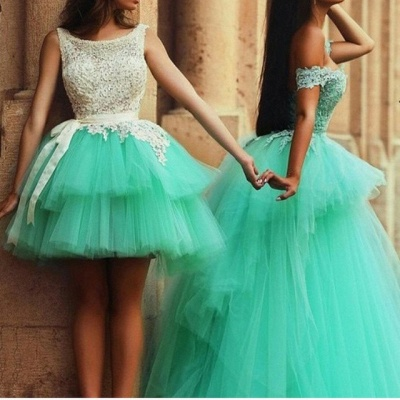 Timeless Illusion Sleeveless Tulle Homecoming Dress With Lace_1