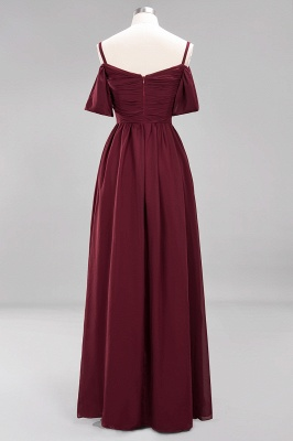 Sexy Spaghetti Strap Draped 2020 Prom Dress | Burgundy A-Line Evening Gowns With Zipper_4