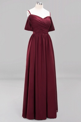 Sexy Spaghetti Strap Draped 2020 Prom Dress | Burgundy A-Line Evening Gowns With Zipper_3