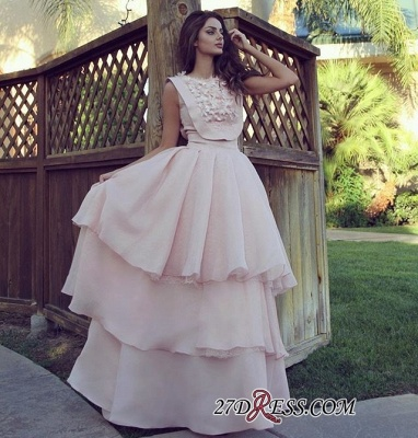 Pink Chiffon Evening Gowns | 2020 Prom Dress With Layers_1