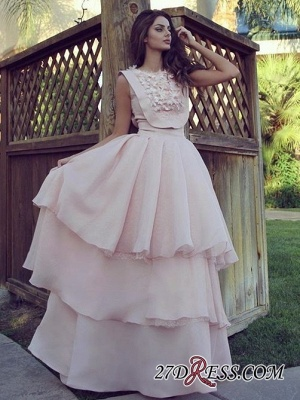 Pink Chiffon Evening Gowns | 2020 Prom Dress With Layers_2