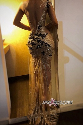 Sexy One Shoulder Long Sleeve Prom Dress | 2020 Mermaid Sequins Evening Gowns BC0954_2