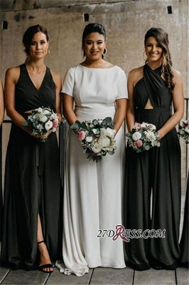 Sheath V-neck Halter Delicate Spaghetti-Straps Bridesmaid Dresses_1