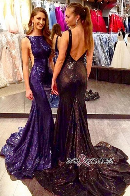 2020 Mermaid Sleeveless Sexy Court-Train Sequined Open-Back Prom Dress_2