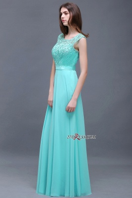 Glamorous Lace-Appliques Chiffon A-Line Scoop prom dresses_3