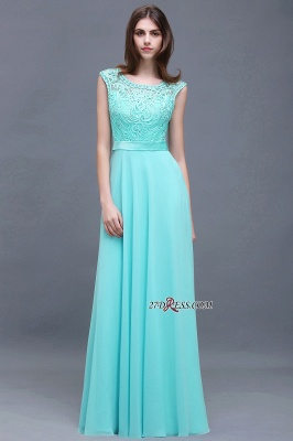 Glamorous Lace-Appliques Chiffon A-Line Scoop prom dresses_4