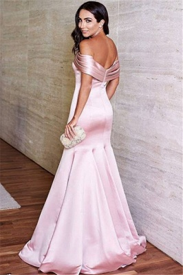 Lovely Off-the-Shoulder 2020 Mermaid Evening Dress Long On Sale_3
