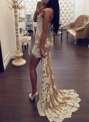 Chic Sweetheart Lace Appliques 2020 Prom Dress Mermaid Hi-Lo_3