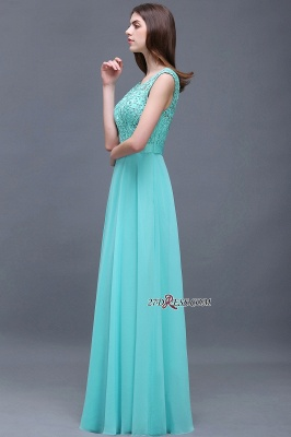 Glamorous Lace-Appliques Chiffon A-Line Scoop prom dresses_1