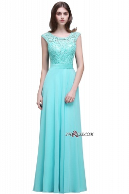Glamorous Lace-Appliques Chiffon A-Line Scoop prom dresses_5