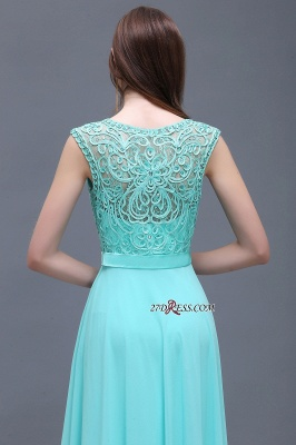 Glamorous Lace-Appliques Chiffon A-Line Scoop prom dresses_2