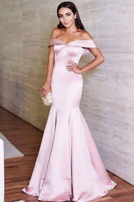 Lovely Off-the-Shoulder 2020 Mermaid Evening Dress Long On Sale_1