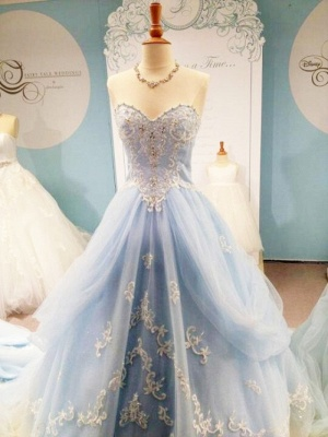Timeless Sweetheart Appliques A-Line Prom Dress Floor-length Sweet 16 Dress_1