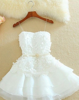 Lovely Sweetheart Mini Homecoming Dress Lace Appliques Layered_4
