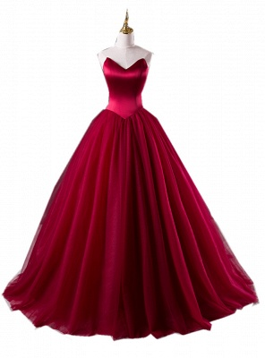 Elegant Wine Red Wedding Dresses Princess Tulle Bridal Wedding Dresses