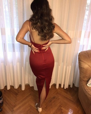 Glamorous Spaghetti-Straps Short Prom Dresses | 2020 Burgundy Party Gowns On Sale_3