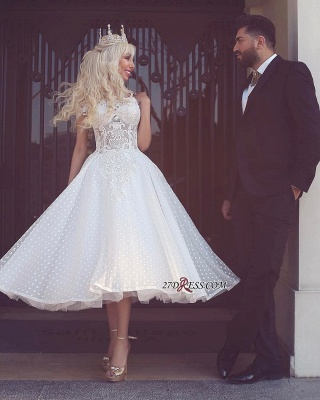Ball-Gown Off-the-Shoulder White Wedding Dress_1