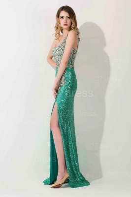 Gorgeous One Shoulder Sequins 2020 Prom Dress With Beadings_2