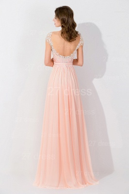 Modern Off-the-shoulder Chiffon Bowknot Evening Dress Appliques Floor-length_3