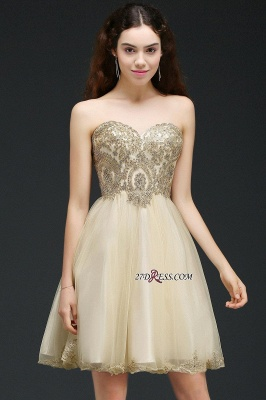 Lovely Sweetheart Short Appliques Lace-Up Homecoming Dress_7