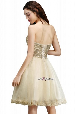 Lovely Sweetheart Short Appliques Lace-Up Homecoming Dress_4