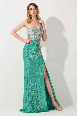 Gorgeous One Shoulder Sequins 2020 Prom Dress With Beadings_3