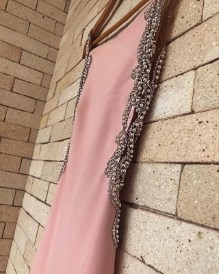 Pink Mermaid Prom Dress   2020 Evening Gowns With Beadings BA8929_5