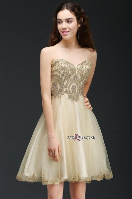 Lovely Sweetheart Short Appliques Lace-Up Homecoming Dress_6