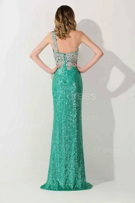 Gorgeous One Shoulder Sequins 2020 Prom Dress With Beadings_4