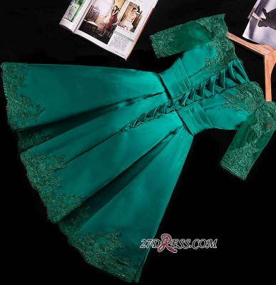 2020 Lace Green Short Appliques Charming Half-Sleeve Homecoming Dress BA3856_4