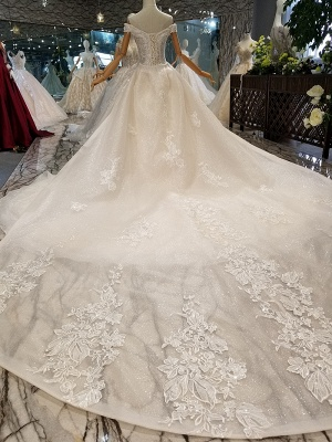 Luxurious Off-the-Shoulder Sequins Wedding Dresses | 2020 Beaidngs Lace Ball Gown Bridal Dresses BC1606_3