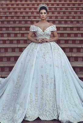 Ball gown wedding dress, lace bridal gowns on sale BA8523_1