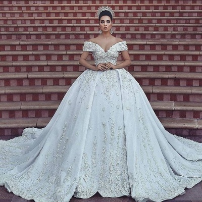 Ball gown wedding dress, lace bridal gowns on sale BA8523_3